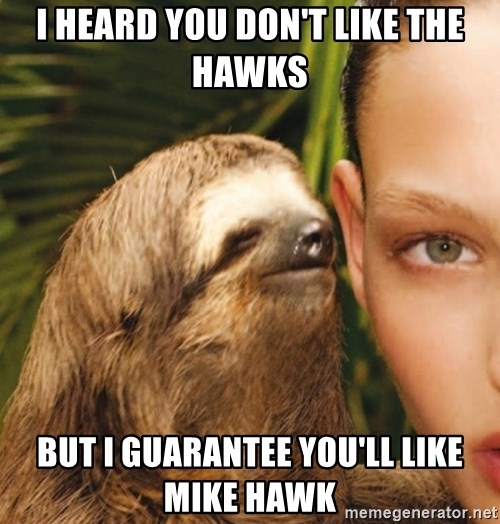 The Rape Sloth - I heard you don't like the hawks But I guarantee you'll like mike hawk