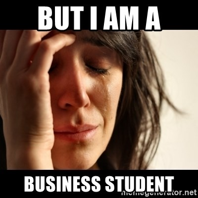 crying girl sad - But i am a  business student