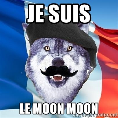 Monsieur Le Courage Wolf - je suis le moon moon