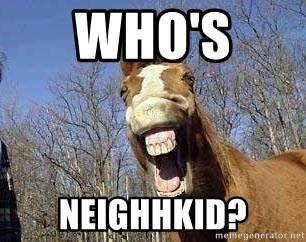 Horse - who's  neighhkid?
