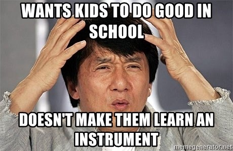 Jackie Chan - Wants kids to do good in school Doesn't make them Learn an instrument