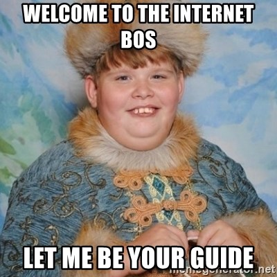 welcome to the internet i'll be your guide - Welcome to the internet Bos Let me be your guide