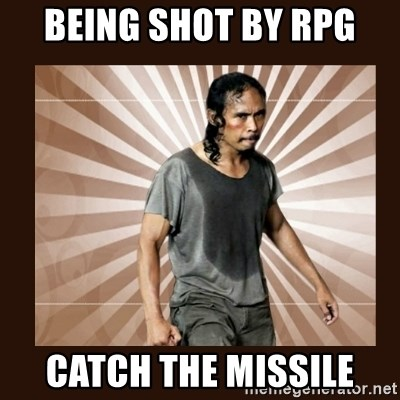 MadDog (The Raid) - being shot by rpg catch the missile