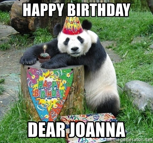 Happy Birthday Panda - Happy Birthday dear joanna