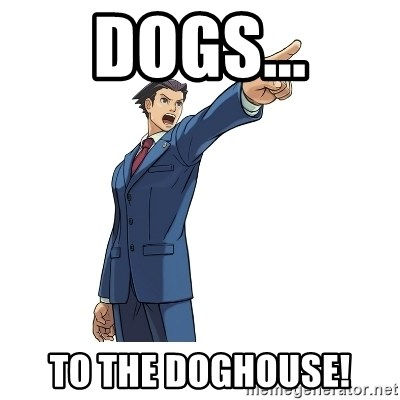 OBJECTION - Dogs... To the DOGHOUSE!