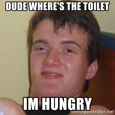 Really Stoned Guy - DUDE WHERE'S THE TOILET IM HUNGRY