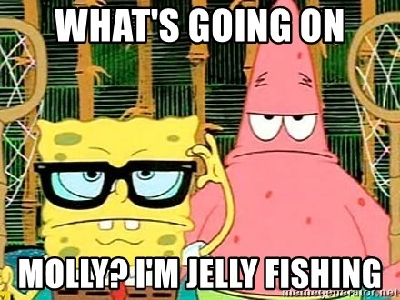 Serious Spongebob - What's going oN Molly? I'm jelly fishing