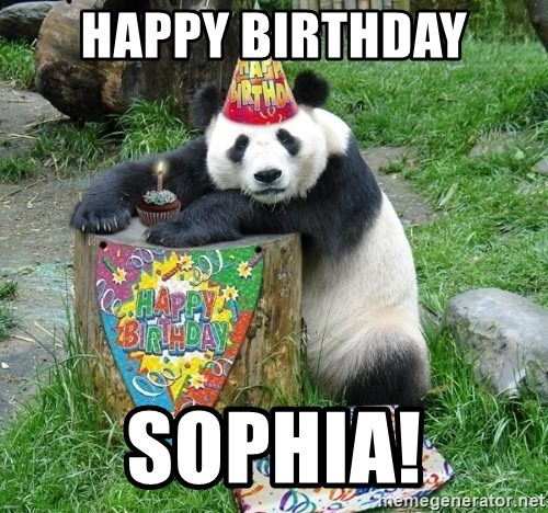 Happy Birthday Panda - Happy birthday Sophia!