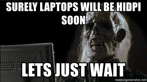 OP will surely deliver skeleton - Surely laptops will be HiDPI soon lets just wait