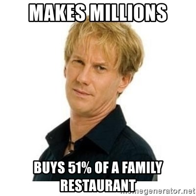 Stupid Opie - Makes millions Buys 51% of a family Restaurant