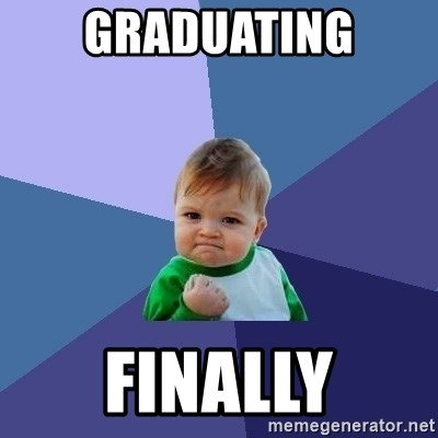 Success Kid - graduating finally