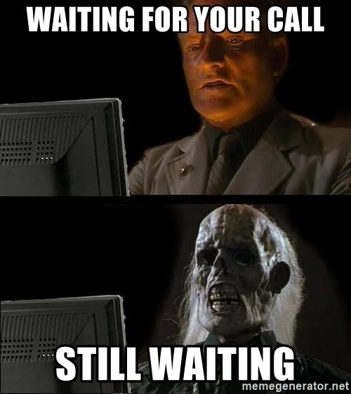 Waiting For - Waiting for your call Still Waiting
