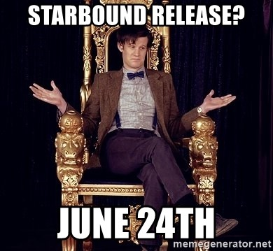 Hipster Doctor Who - Starbound release? June 24th