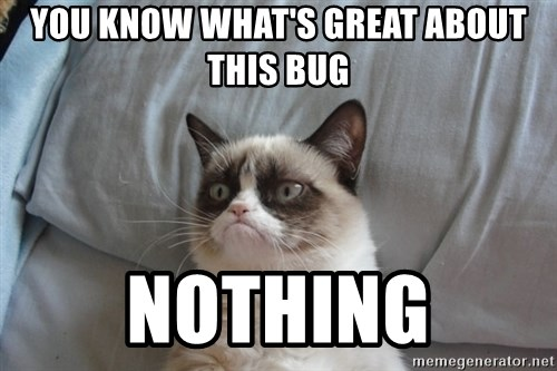 Grumpy cat good - You know what's great about this bug nothing