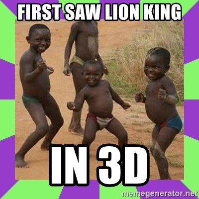 african kids dancing - FIRST SAW LION KING  IN 3D