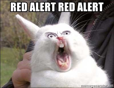 Rabbit On Alert - red alert red alert