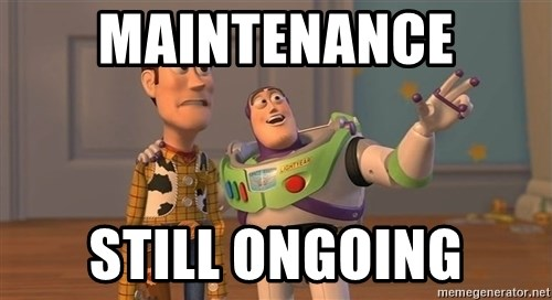 Toy Story Everywhere - maintenance still ongoing