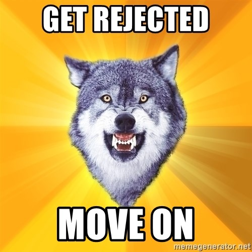 Courage Wolf - Get Rejected Move on