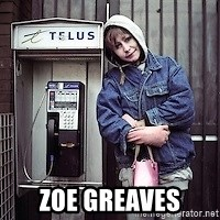ZOE GREAVES TIMMINS ONTARIO -  Zoe Greaves