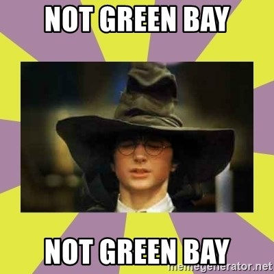 Harry Potter Sorting Hat - not green bay not green bay