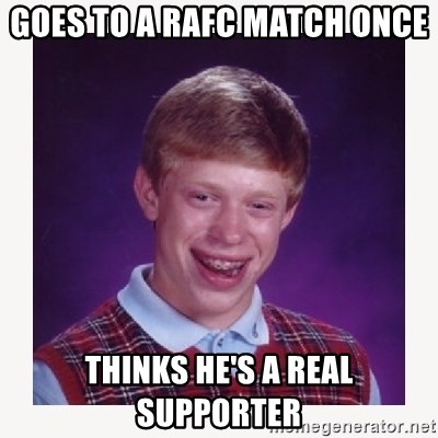 nerdy kid lolz - GOES TO A RAFC MATCH ONCE THINKS HE'S A REAL SUPPORTER
