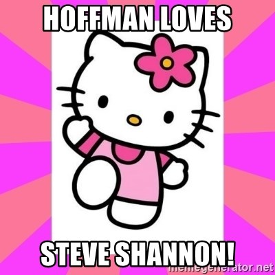 Hello Kitty - HOFFMAN LOVES STEVE SHANNON!