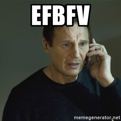 I don't know who you are... - EFBFV