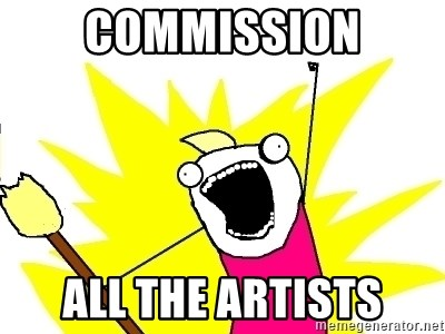 X ALL THE THINGS - commission all the artists