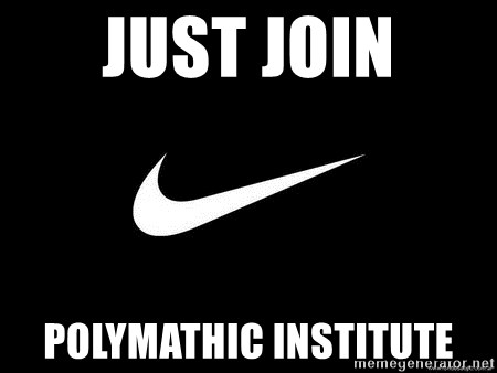 Nike swoosh - JUst JOin Polymathic institute