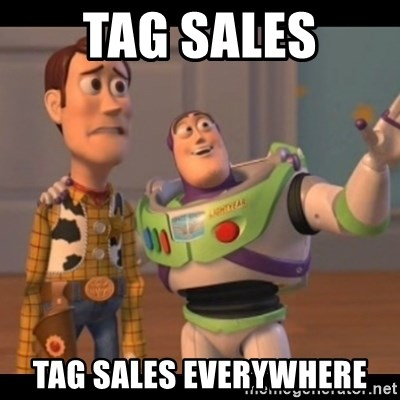 X, X Everywhere  - Tag sales tag sales everywhere