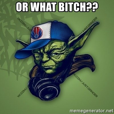Street Yoda - Or what bitch??