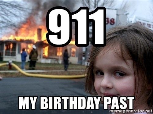 Disaster Girl - 911 my birthday past