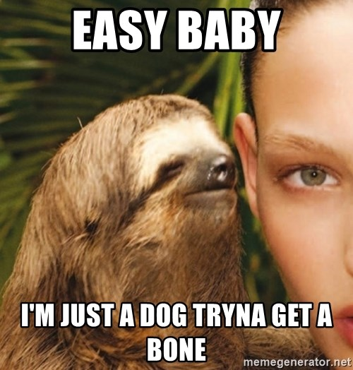 The Rape Sloth - Easy baby I'm just a dog tryna get a bone