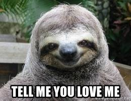 Sexual Sloth -  TELL ME YOU LOVE ME