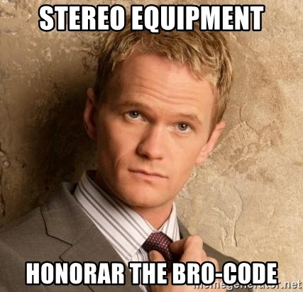 BARNEYxSTINSON - Stereo equipment Honorar the Bro-code