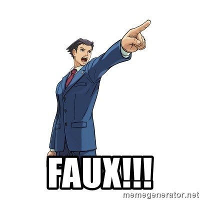 OBJECTION -  FAUX!!!