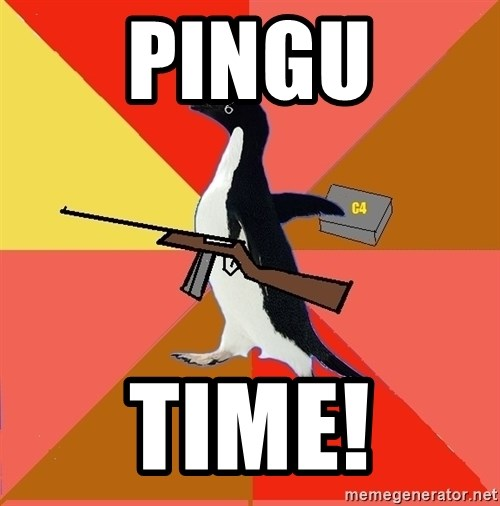 Socially Fed Up Penguin - Pingu time!