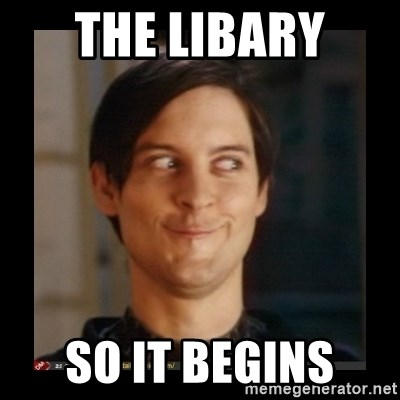 Tobey_Maguire - THE LIBARY  SO IT BEGINS