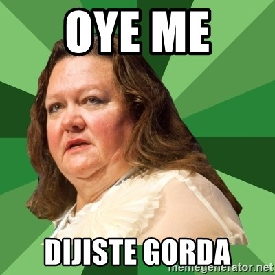 Dumb Whore Gina Rinehart - OYE ME  DIJISTE GORDA