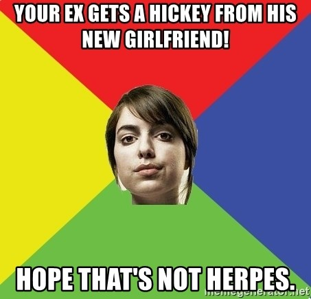 Non Jealous Girl - Your EX GETS A HICKEY FROM HIS NEW GIRLFRIEND! HOPE THAT's NOT HERPES.