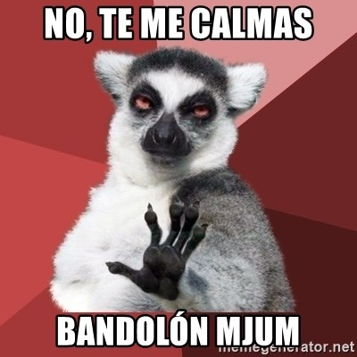 Chill Out Lemur - NO, TE ME CALMAS BANDOLÓN MJUM
