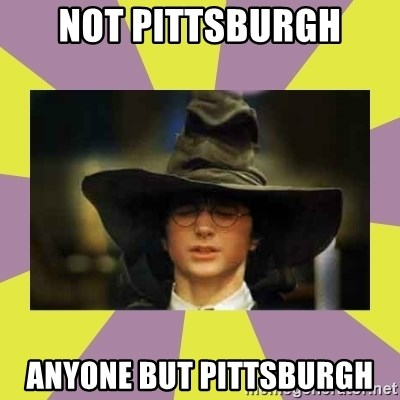 Harry Potter Sorting Hat - Not Pittsburgh anyone but pittsburgh