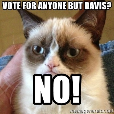 Grumpy Cat  - vote for anyone but davis? No!