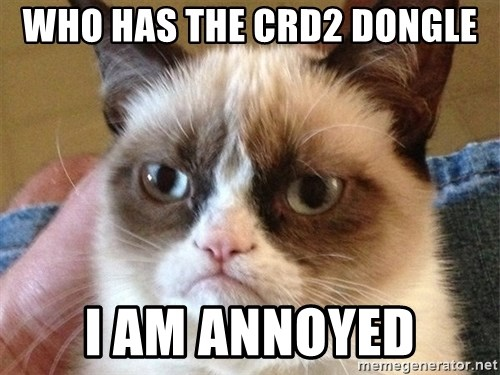 Angry Cat Meme - Who has the crd2 dongle I am annoyed