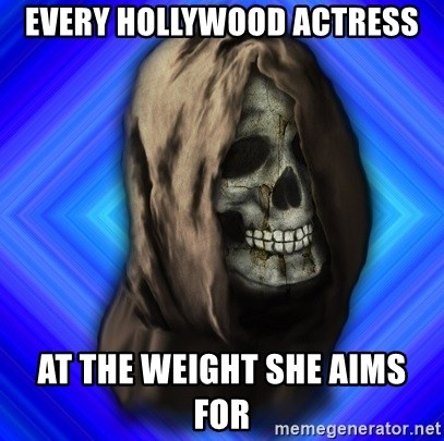 Scytheman - Every hollywood actress at the weight she aims for