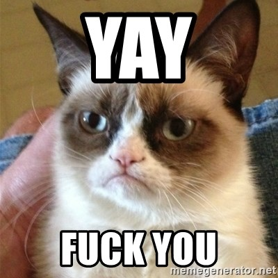 Grumpy Cat  - Yay fuck you