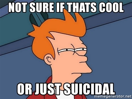 Futurama Fry - Not sure if thats cool or just suicidal