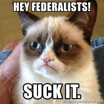 Grumpy Cat  - HEY Federalists! suck it.