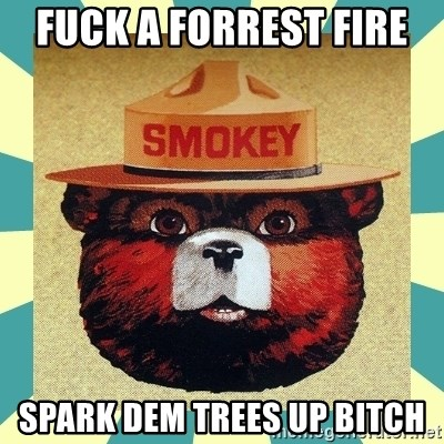 Smokey the Bear - fuck a forrest fire  spark dem trees up bitch