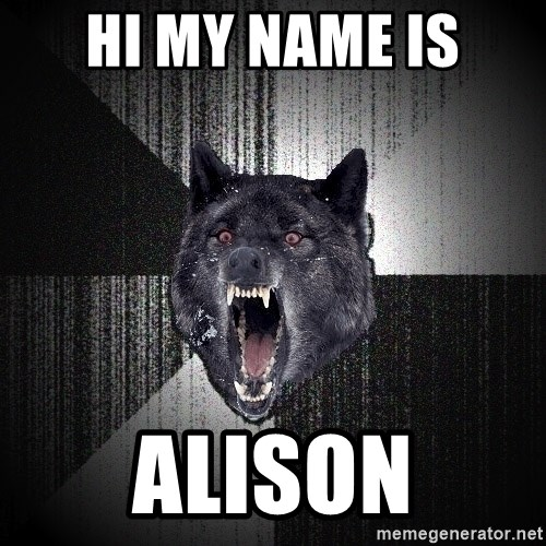 Insanity Wolf - HI MY NAME IS Alison
